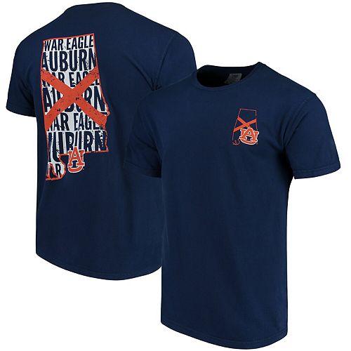Men's Navy Auburn Tigers Flag Local Comfort Color T-Shirt