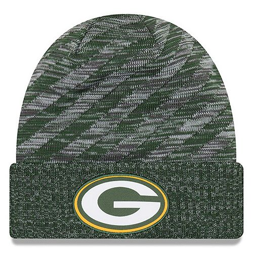 Youth New Era Green Green Bay Packers 2018 NFL Sideline Cold Weather TD Knit Hat