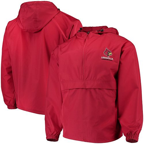 Men's Champion Red Louisville Cardinals Packable Jacket