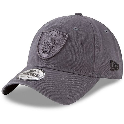 Men's New Era Graphite Oakland Raiders Core Classic Tonal 9TWENTY Adjustable Hat