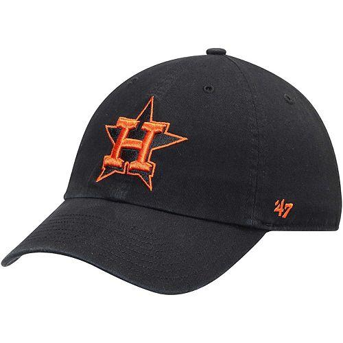 Men's '47 Black Houston Astros Team Color Clean Up Adjustable Hat