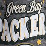 Girls Youth New Era Heathered Gray Green Bay Packers Starring Role Long Sleeve Tri-Blend V-Neck T-Shirt