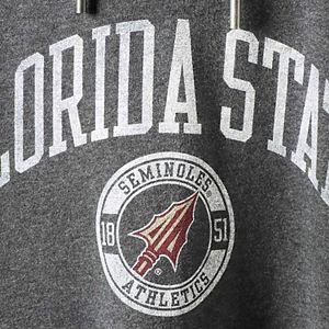 Women's Heathered Gray Florida State Seminoles Pressbox Hooded Sweatshirt Dress