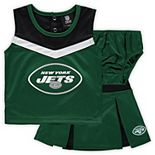 Girls Toddler Green New York Jets Two-Piece Spirit Cheerleader Set with Bloomers