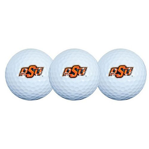Oklahoma State Cowboys Pack of 3 Golf Balls