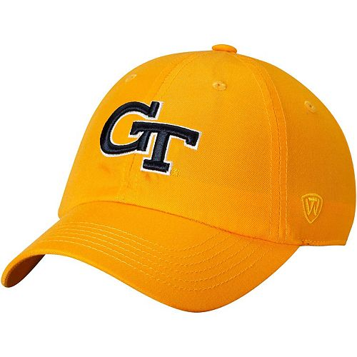Men's Top of the World Gold Georgia Tech Yellow Jackets Primary Logo Staple Adjustable Hat