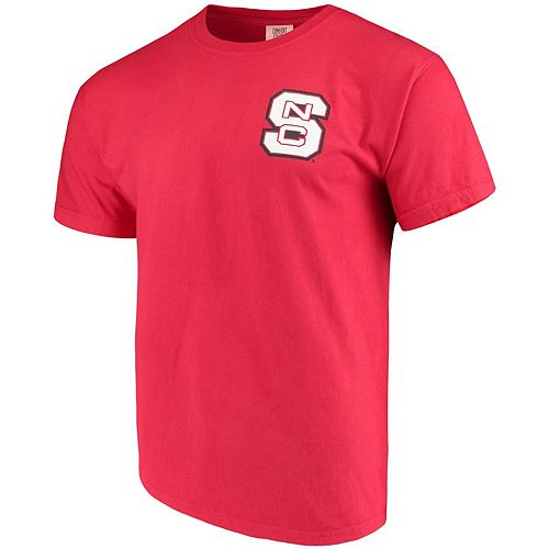 Men's Red NC State Wolfpack Baseball Flag Comfort Colors T-Shirt