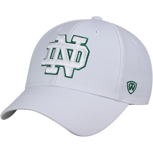 Men's Top of the World White Notre Dame Fighting Irish Dynasty Fitted Hat