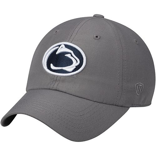 Men's Top of the World Gray Penn State Nittany Lions Primary Logo Staple Adjustable Hat
