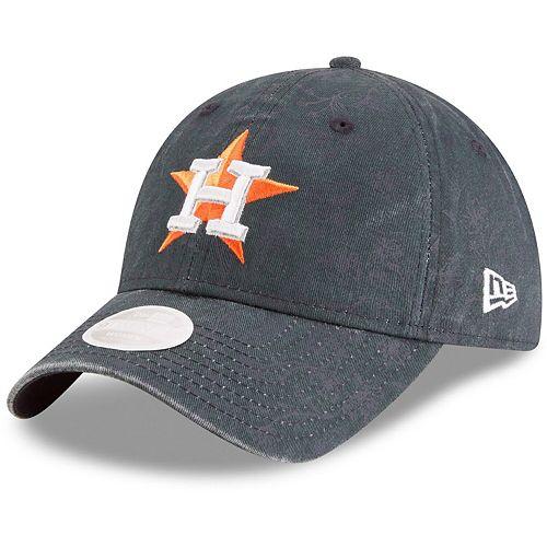 Women's New Era Navy Houston Astros Floral Peek 9TWENTY Adjustable Hat