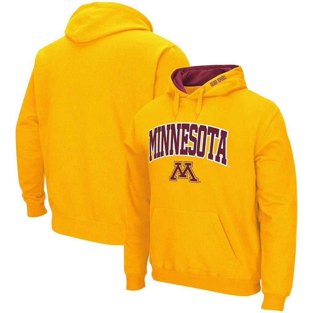 Men's Colosseum Gold Minnesota Golden Gophers Arch & Logo Pullover Hoodie