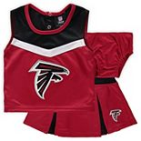 Girls Toddler Red/Black Atlanta Falcons Two-Piece Spirit Cheerleader Set with Bloomers