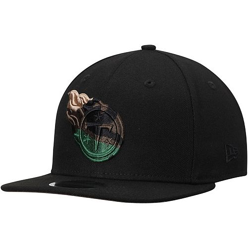 Men's New Era Black Tennessee Titans Camo Capped 9FIFTY Adjustable Hat