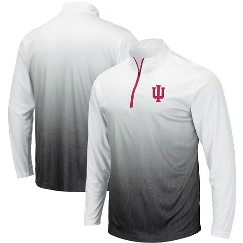 Men's Colosseum Gray Indiana Hoosiers Magic Team Logo Quarter-Zip Jacket