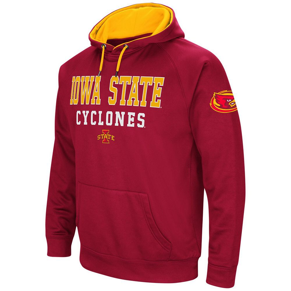 Men's Colosseum Cardinal Iowa State Cyclones Performance Pullover Hoodie
