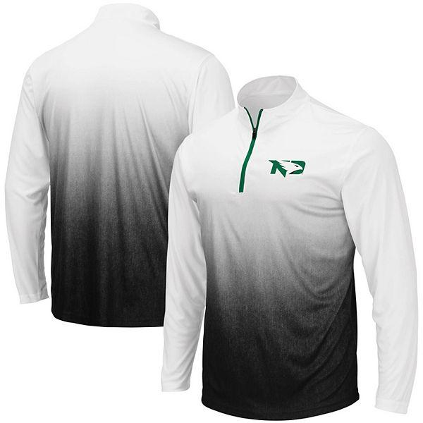 Men's Colosseum Gray North Dakota Magic Team Logo Quarter-Zip Jacket