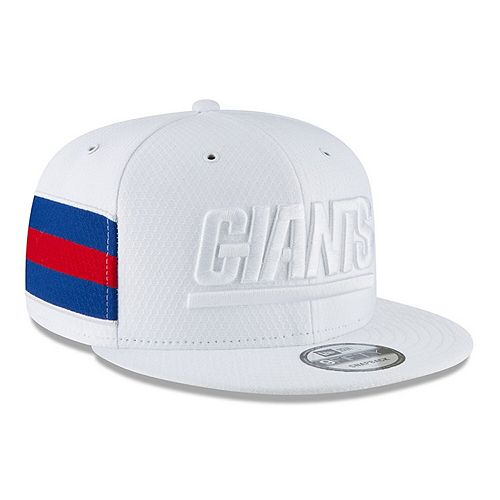 Youth New Era White New York Giants 2018 NFL Sideline Color Rush 9FIFTY Snapback Adjustable Hat