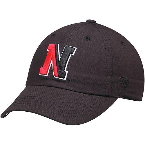 Men's Top of the World Black Northeastern Huskies Primary Logo Staple Adjustable Hat