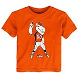Toddler Orange Denver Broncos Standing Team Mascot T-Shirt