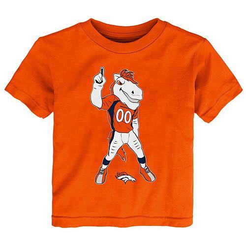 Toddler Orange Denver Broncos Standing Team Mascot T-Shirt