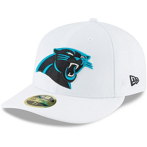 Men's New Era White Carolina Panthers Omaha Low Profile 59FIFTY Fitted Hat