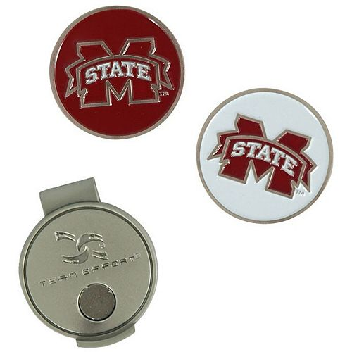 Mississippi State Bulldogs Hat Clip & Ball Markers Set