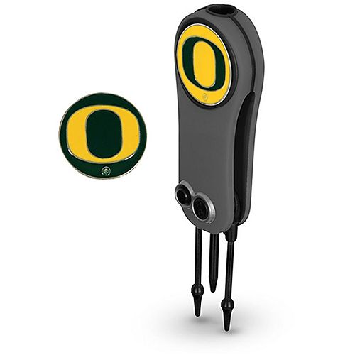 Oregon Ducks Switchblade Repair Tool & Two Ball Markers