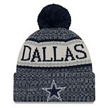 Youth New Era Navy Dallas Cowboys 2018 NFL Sideline Cold Weather Sport Knit Hat