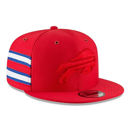Men's New Era Red Buffalo Bills 2018 NFL Sideline Color Rush Official 9FIFTY Snapback Adjustable Hat