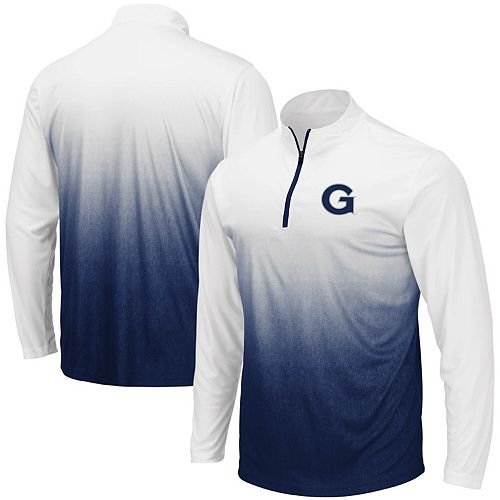 Men's Colosseum Navy Georgetown Hoyas Magic Team Logo Quarter-Zip Jacket