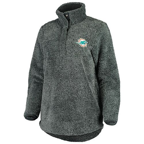 Women's Concepts Sport Charcoal Miami Dolphins Trifecta Snap-Up Jacket