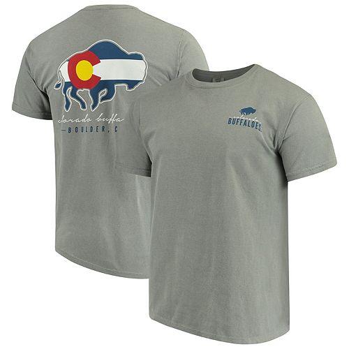 Men's Gray Colorado Buffaloes Local Comfort Color T-Shirt