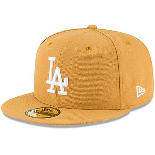 Men's New Era Gold Los Angeles Dodgers Fashion Color Basic 59FIFTY Fitted Hat