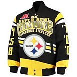 Men's G-III Extreme Black Pittsburgh Steelers Gladiator Commemorative Cotton Twill Jacket