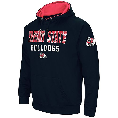 Men's Colosseum Navy Fresno State Bulldogs Performance Pullover Hoodie