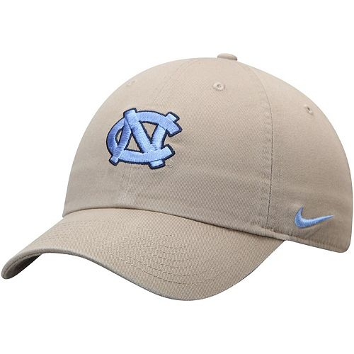 North Carolina Tar Heels Nike Heritage 86 Logo Performance Adjustable Hat - Khaki