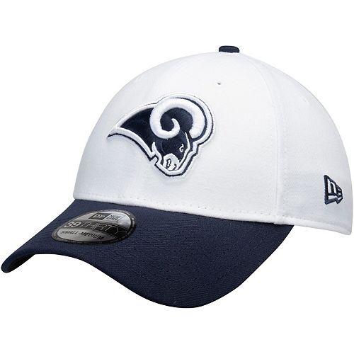 Men's New Era White/Navy Los Angeles Rams Team Classic Two-Tone 39THIRTY Flex Hat