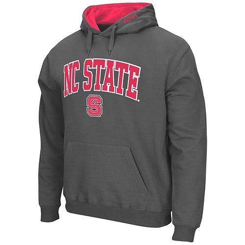 Men's Colosseum Charcoal NC State Wolfpack Arch & Logo Pullover Hoodie