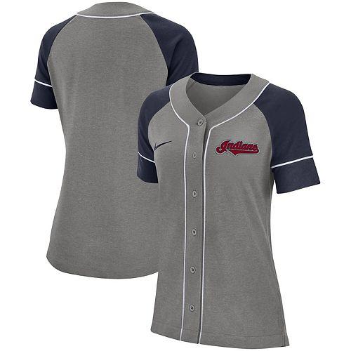 Women's Nike Gray Cleveland Indians Classic Baseball Jersey