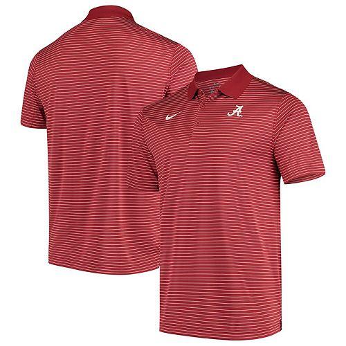 Men's Nike Crimson Alabama Crimson Tide Stadium Striped Performance Polo