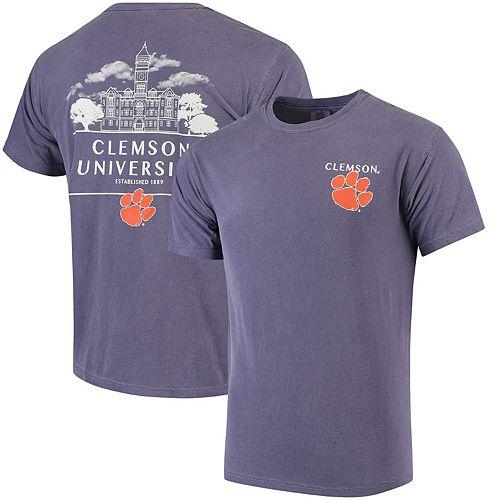 Men's Purple Clemson Tigers Campus Local Comfort Colors T-Shirt