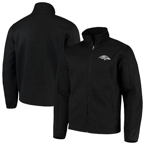 Men's G-III Sports by Carl Banks Black Baltimore Ravens QR Audible Full-Zip Fleece Jacket