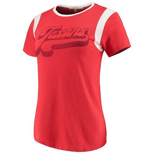 Women's Junk Food Red/White Houston Texans Retro Sport T-Shirt