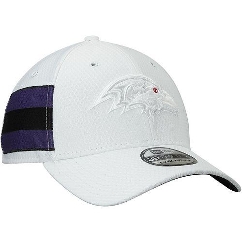 Men's New Era White Baltimore Ravens Kickoff 39THIRTY Flex Hat