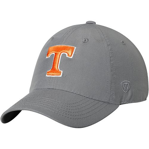 Men's Top of the World Gray Tennessee Volunteers Primary Logo Staple Adjustable Hat