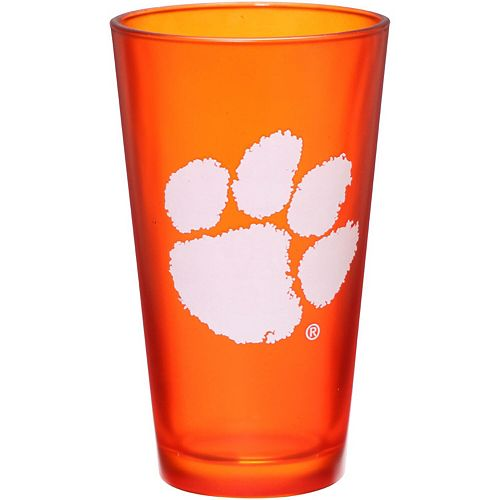Clemson Tigers 16 oz. Team Color Frosted Pint Glass