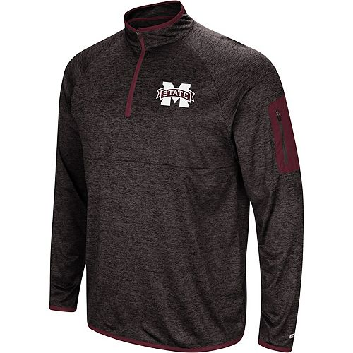 Men's Colosseum Black Mississippi State Bulldogs Amnesia Quarter-Zip Pullover Jacket