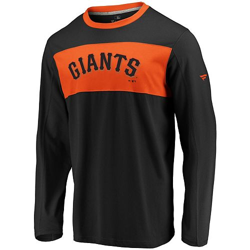 Men's Fanatics Branded Black/Orange San Francisco Giants Iconic Long Sleeve T-Shirt