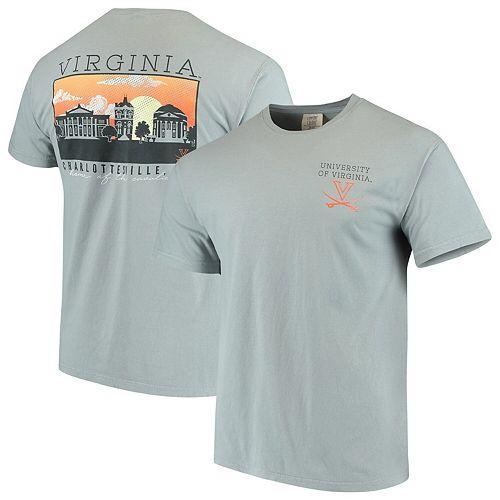 Men's Gray Virginia Cavaliers Team Comfort Colors Campus Scenery T-Shirt
