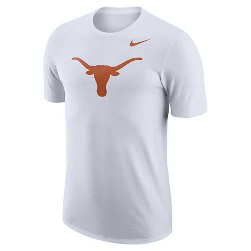 Men's Nike White Texas Longhorns School Logo Performance T-Shirt